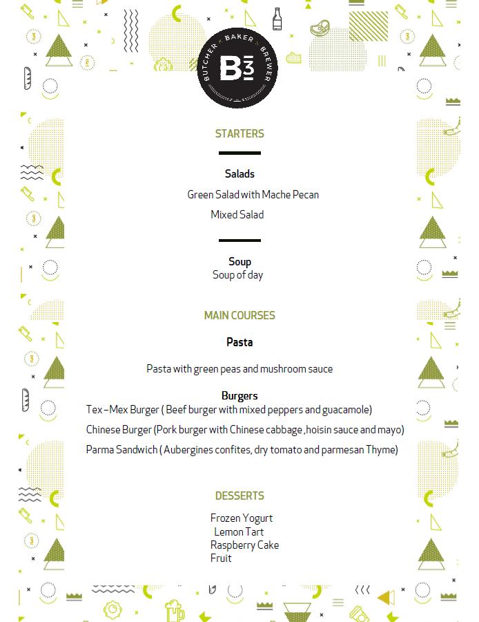 B3 menu